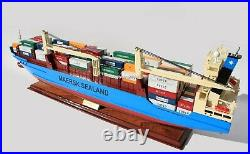 Maersk Ferrol Container Wooden Ship Model Display Ready
