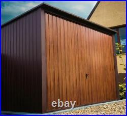 Metal Garage in Oak Colour, Bespoke Garage Contruction Shed / Car Port MALMO