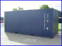 NEW BLUE 20x8 20 Foot Steel Storage Shipping Container Hire Sale NORTH WALES