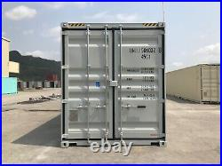 New 40ft high cube shipping container grey and tan colour