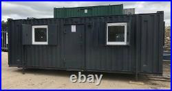 New fitted Windows and security shutters for container offices
