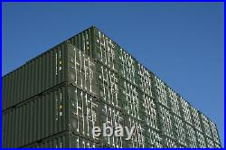 One Trip 40ft shipping container NEW Nationwide Stock Green or Blue