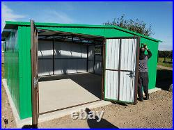 Secure Shed 18x18ft for Car, Motorcycle Garden Equipment Storage Workshop