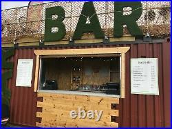 Shipping Container Bar & Roof Terrace conversion 20ft INC VAT (£17500.00 ex vat)
