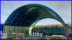 Shipping Container Shelter Shed Hangar 40ft x 40ft x 12ft Heavy Duty Galv Steel