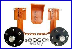 Shipping Container Wheels & Jack Lug Full Transport KIT Move 20+40ft Container