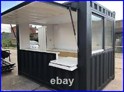 Shipping container food unit coffee bar