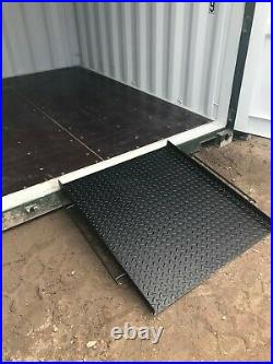 Shipping container iso-ramps 8ft 10ft 20ft 40 ft Patent product Pallett ramp