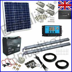 Solar Lighting Kit, 2 x LED Strip Lights, 40W Solar Panel, With Battery, 12V