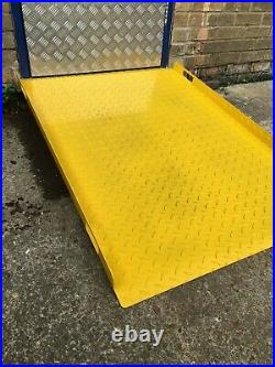 Steel chequer plate ramp / shipping container/ disability / pallet truck access
