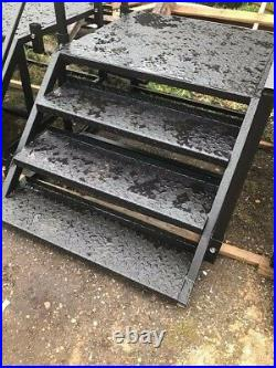 Steps, platforms, containers, cabins, toilet blocks, heavy duty, access steps, Hire