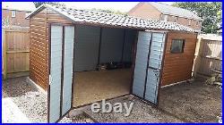Wood Effect Garage 10x20ft Garden Workshop Motorcycle & Car Secure Bike Storage
