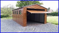 Wood Effect Garage 12x20ft for Car, Motorcycle or Equipment Workshop Build
