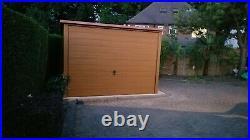 Wood Effect Single Garage for Car, Motorbike Shed, Garden Storage Workshop Unit